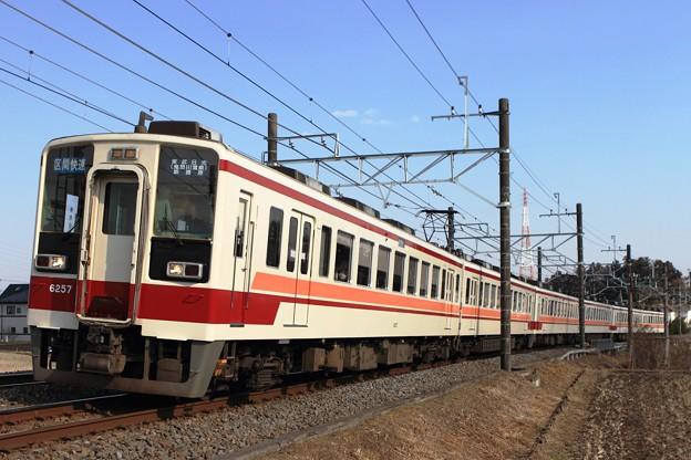 43レ 東武6050系6157F+会津鉄道6050系62101F+東武6050系6156F 6両