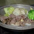 写真: 上川高原野菜と牛の鉄板焼き