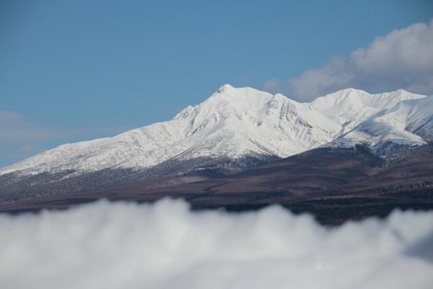 雪山の向こう