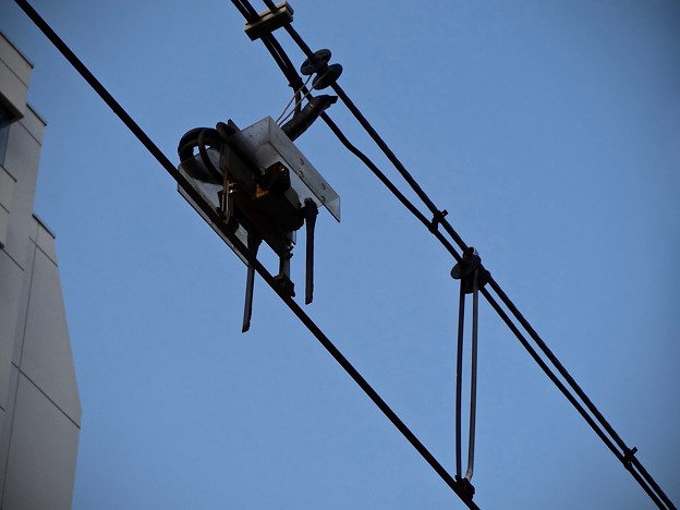 広島電鉄 電車検知装置 トロリーコンタクター 広島市南区的場町1丁目 相生通り 的場町電停