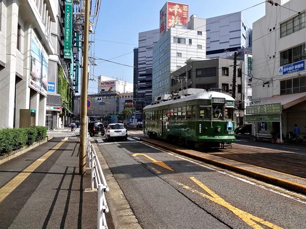 広島電鉄 570形 582号 神戸市電 500形 592号 広島市南区猿猴橋町