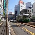 Photos: 広島電鉄 570形 582号 神戸市電 500形 592号 広島市南区猿猴橋町