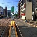 広島電鉄 猿猴橋町電停から荒神三叉路方向 広島市南区猿猴橋町