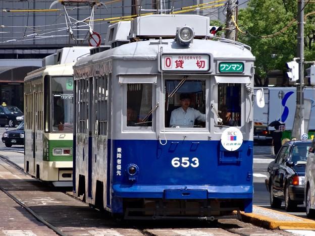 広島電鉄 650形 653号 model 650 Hiroden built in 1942