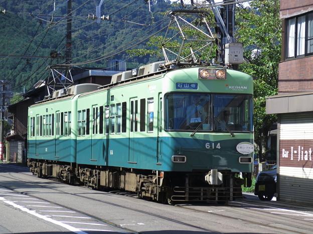 京阪電車といえば、やっぱりこの色。 @京阪電気鉄道石山坂本線 浜大...