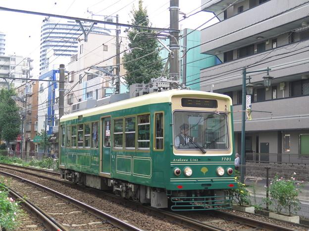 都電7701 色がなんとなく阪堺っぽい。 @東京都交通局三ノ輪線 町...