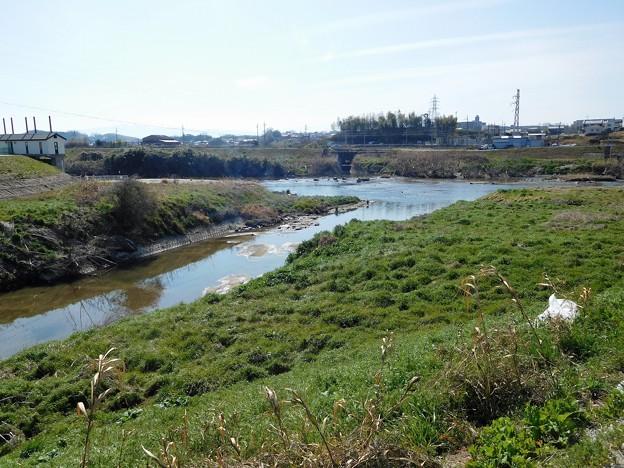 大和川と竜田川の合流点