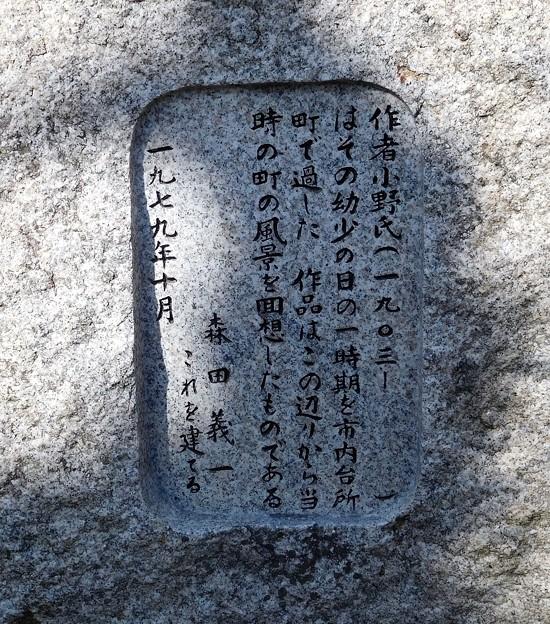 小野十三郎詩碑 (2)