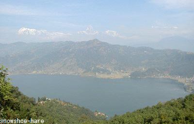 フェワ湖とヒマラヤ
