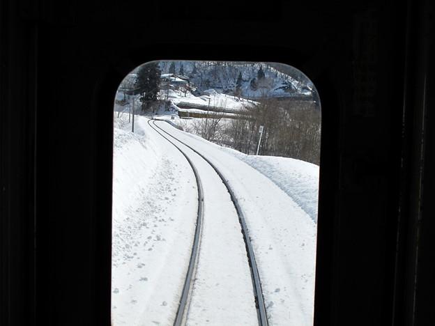 写真: 大糸線キハ52-156後方車窓14