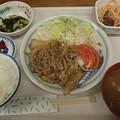 6月24日夕食(蒲郡競艇場職員食堂)