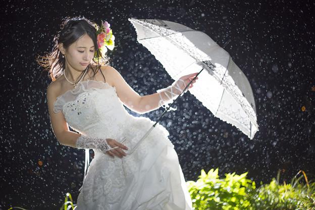 ドレス雨ポトレ