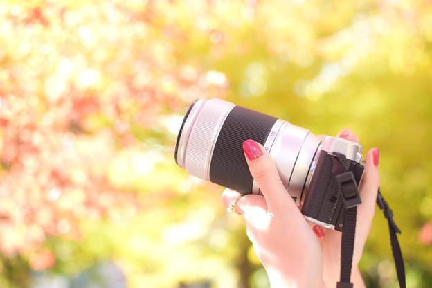 秋とカメラとマニキュア