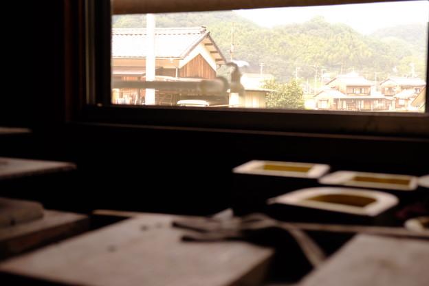工房の窓から見えた景色