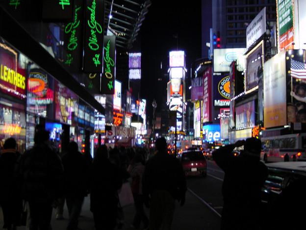 写真: タイムズスクエア