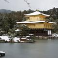 雪の鹿苑寺金閣