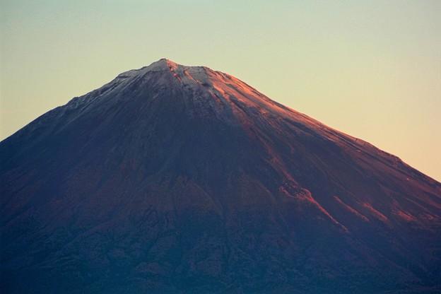 10月31日富士宮からの早朝富士山 おはようございます(^ ^)早朝紅富士きましたね~