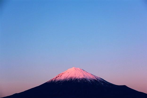 1月1日富士宮市からの夕方富士山~あけましておめでとうございます(^ ^)今年もよろしくです(^_-)-☆