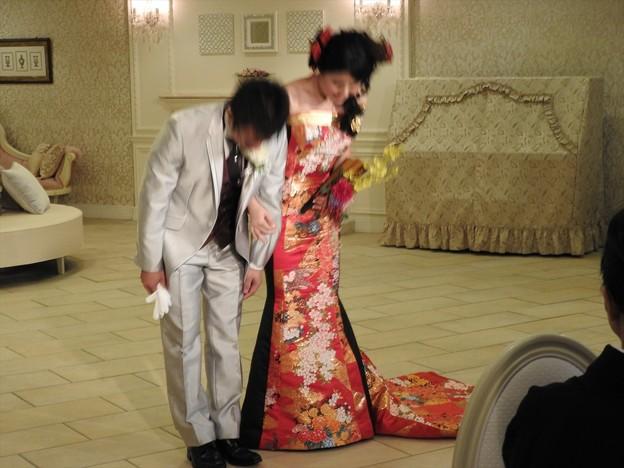 娘の結婚18 披露宴お色直し(和ドレス)