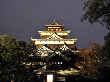 広島城ライトアップ11