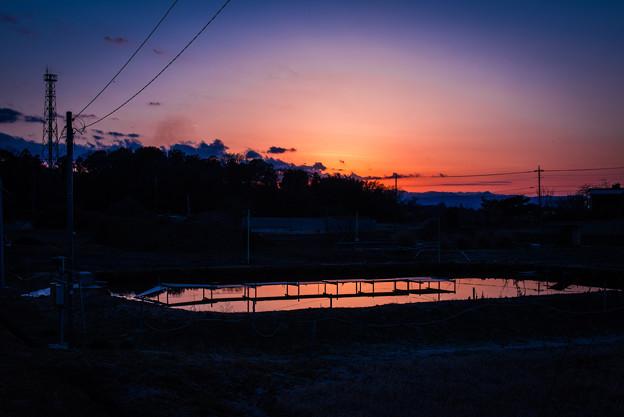 夕焼け2@桶川