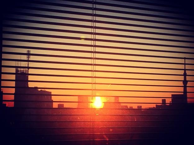Sun rises