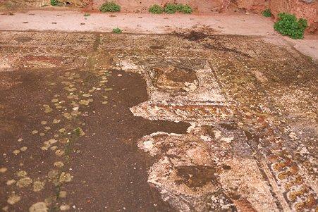 2011.01.23 トルコ 古代都市エフェス 浴場の床タイル
