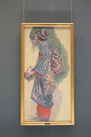 2011.02.06 東京国立博物館 昔語り下絵(舞妓) 黒田清輝 1896
