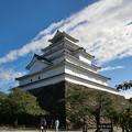 秋晴れの鶴ヶ城