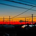 写真: 今朝の朝焼け~