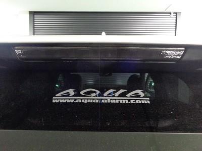ハリアー60系 ハイマウントストップランプ スモークフィルム貼り込み後