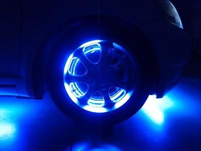 ヴィッツ 福島県 ホイール内LED取付 フロント400