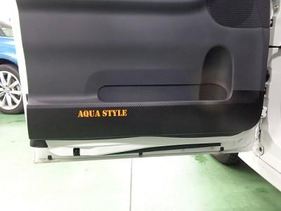 タント ドアパネル傷防止シート AQUASTYLEロゴ 助手席側