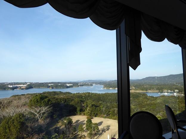 朝食のレストランからの景色