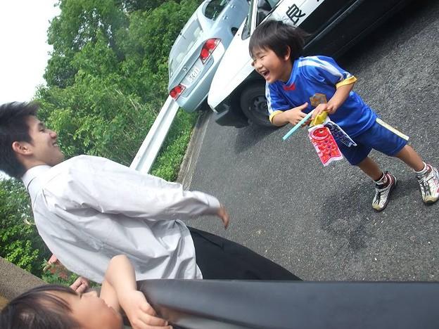 Photos: 迷子になった次男と甥