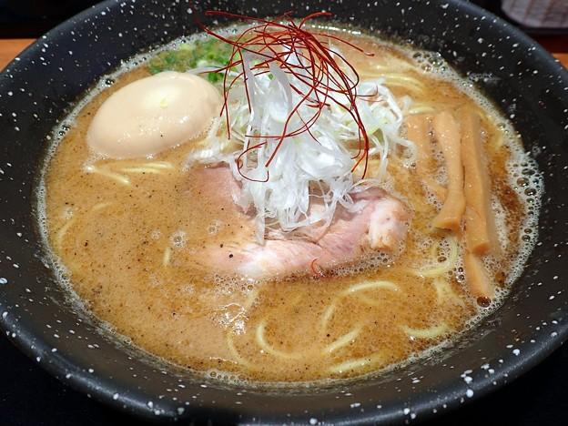 味玉鶏白湯・黒@風 KAZE・いわき市