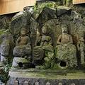 写真: 臼杵石仏・ホキ石仏第一群第一龕 ・如来三尊像 - 06