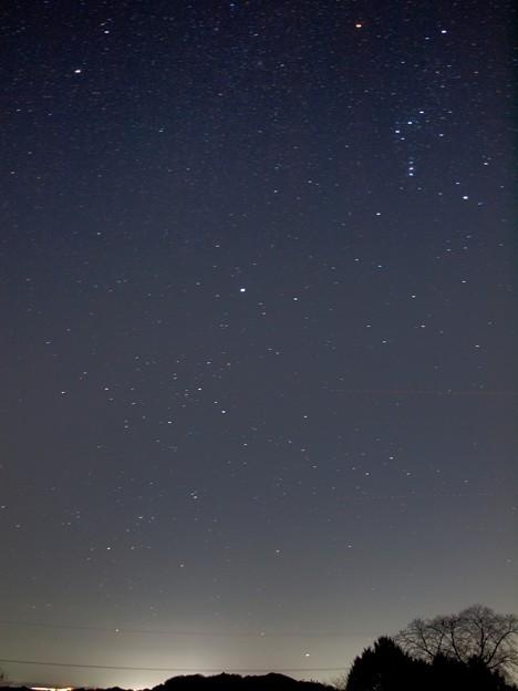 写真: 冬の大三角からカノープス
