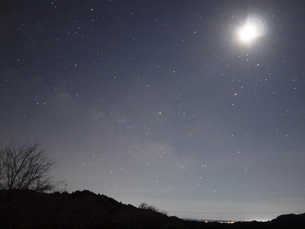 写真: 月と天の川