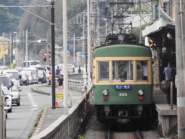 江ノ電300形鎌倉高校前発車