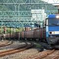 青雷4号機牽引高速貨物2087レ水上1番入線