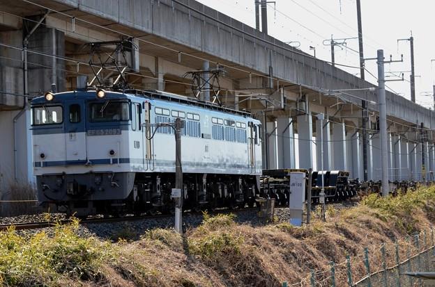 EF65 2093+シキ180+コキ3B 臨配8593レ