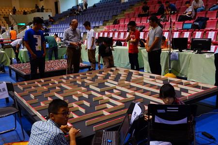 マイクロマウス台湾大会試走の様子