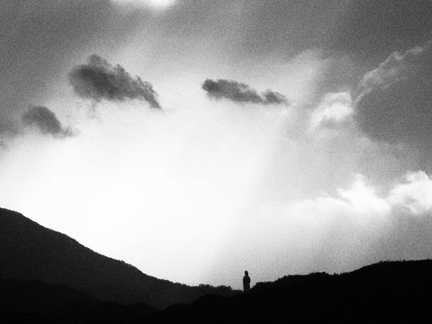 光る空 (小豆島大観音様)