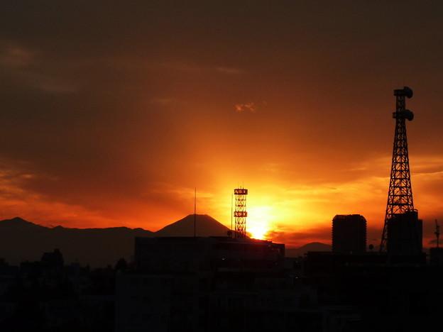 写真: 昨日の夕焼け1
