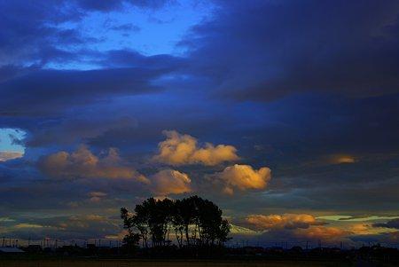 雲が流れてく