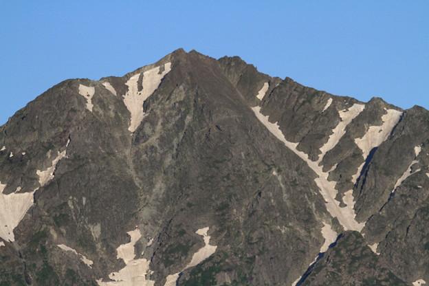 写真: 100722-23蝶ヶ岳登山・穂高連峰と槍ヶ岳(11/30)・奥穂高岳