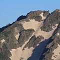 写真: 100722-29蝶ヶ岳登山・穂高連峰と槍ヶ岳(17/30)・北穂高岳