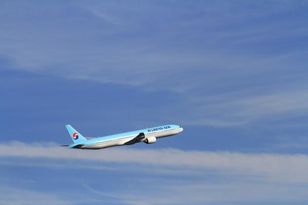 B777 秋空を往く