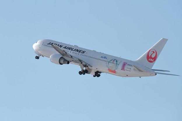 B767 JALドラえもんJET takeoff